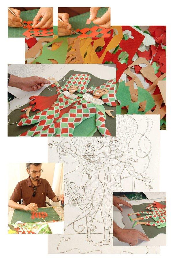 Как сделать объемную картину из бумаги мастер класс