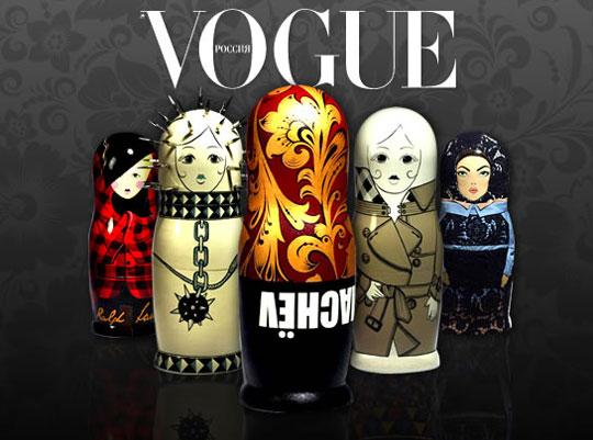 Дизайнерские матрешки в честь 10-летия Vogue Russia