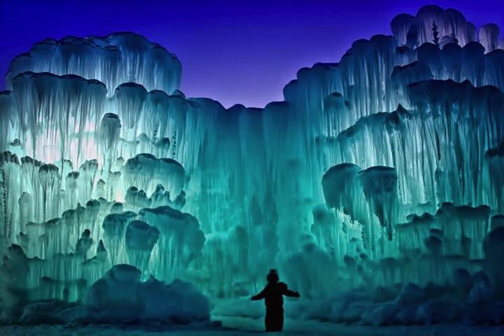 Магические ледяные замки Брента Кристенсена