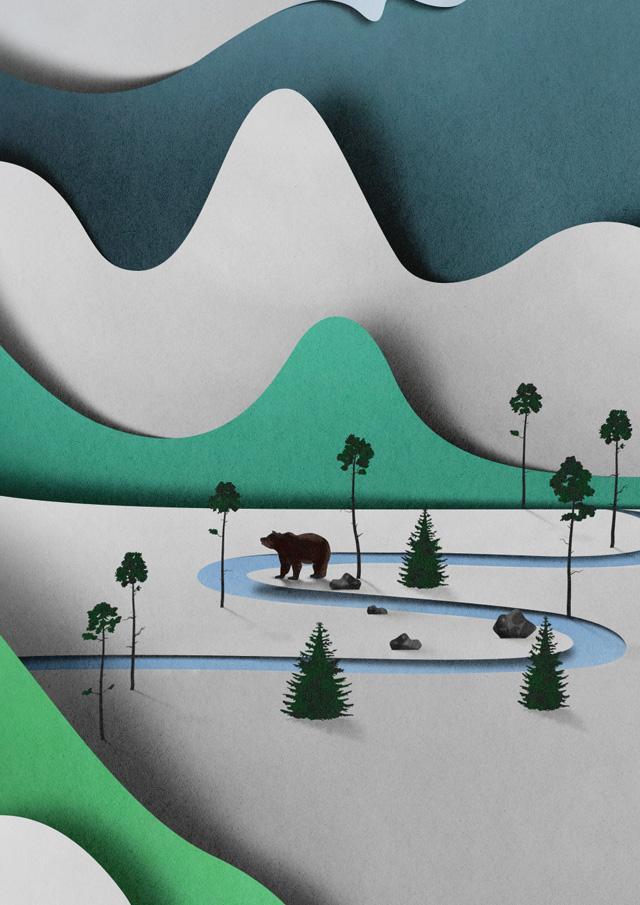 Абстрактные трехмерные иллюстрации Eiko Ojala