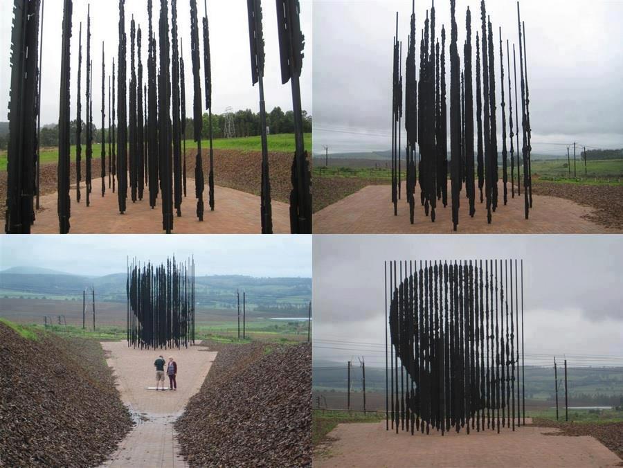 Необычный памятник Нельсону Манделе