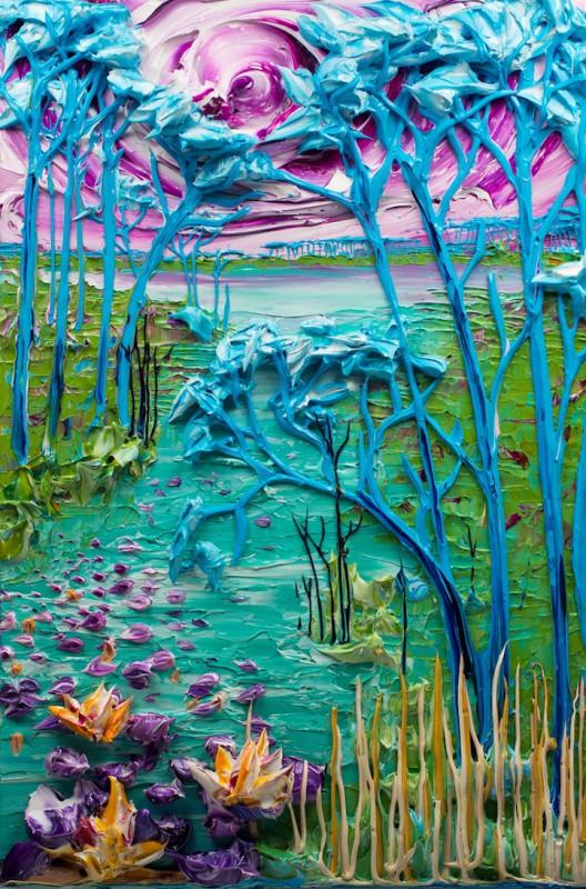 Скульптуры краской Джастина Гаффрея