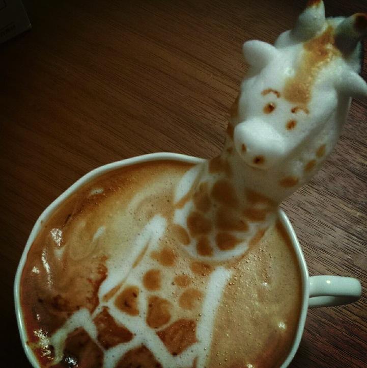 Невероятные 3D-рисунки на кофе