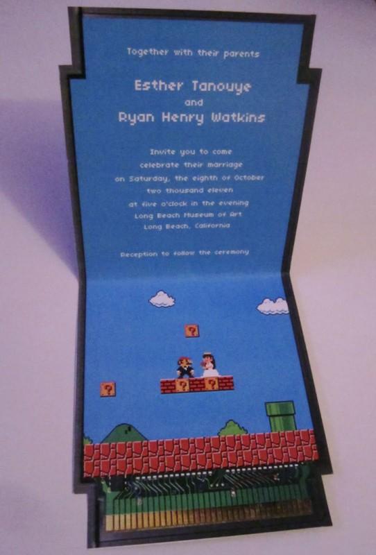 Свадебные приглашения в стиле игры Марио