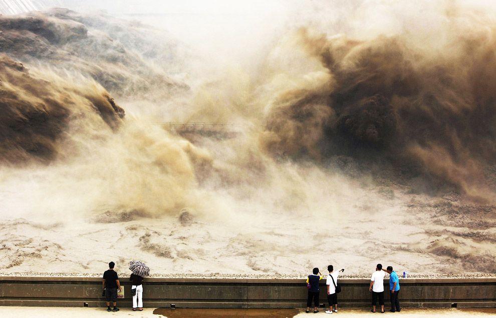 Грандиозный вид на реке Хуанхэ