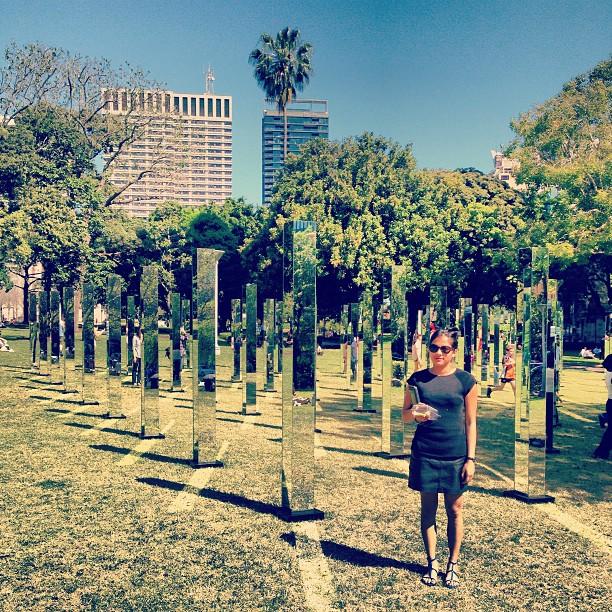 Зеркальный лабиринт в Гайд-парке Сиднея