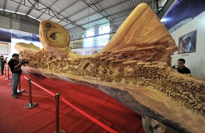 12 метров деревянного искусства