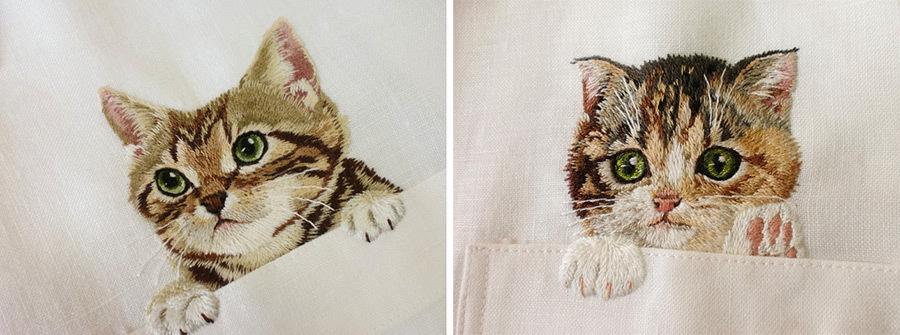 Котики на рубашке
