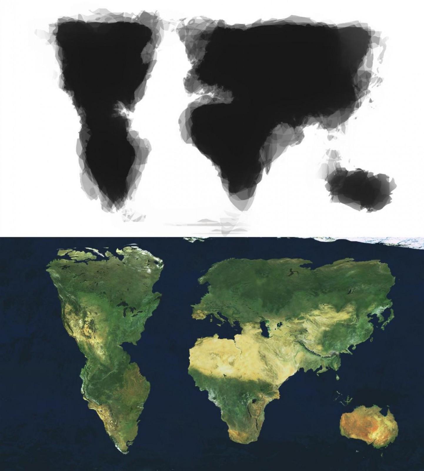 Карта мира по памяти