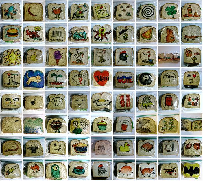 1000 рисунков на упаковках для бутербродов