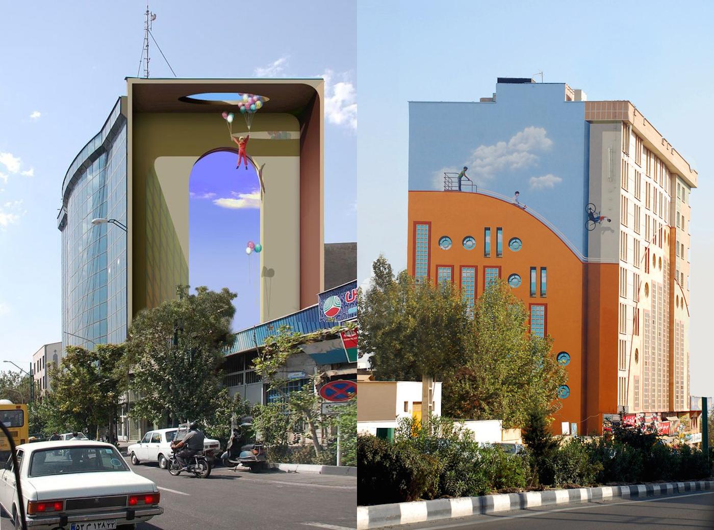 Яркий стрит-арт с улиц Тегерана