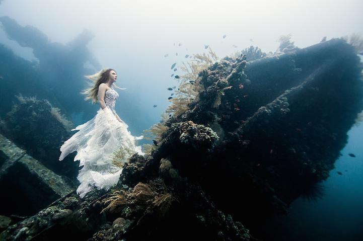 Подводные нимфы у берегов Бали