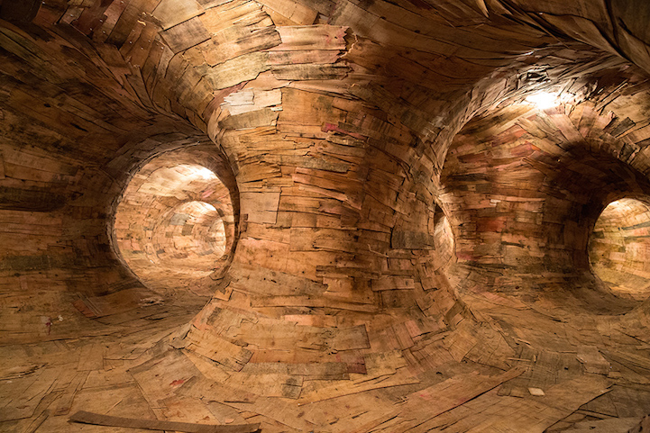 Деревянный лабиринт Transarquitetônica