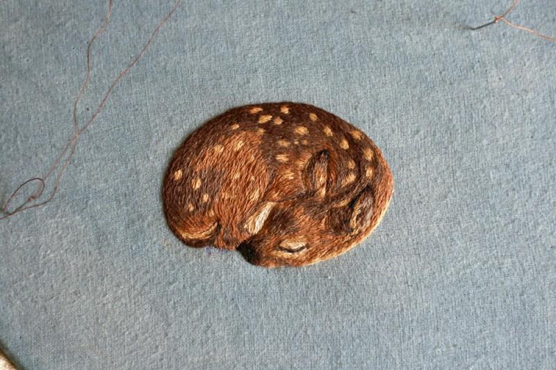 Крошечная вышивка Хлои Джордано