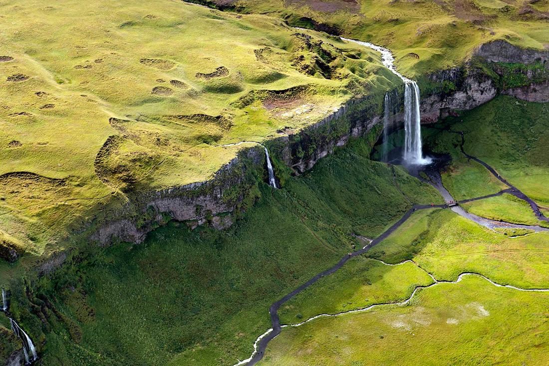 Захватывающие пейзажи Исландии с воздуха
