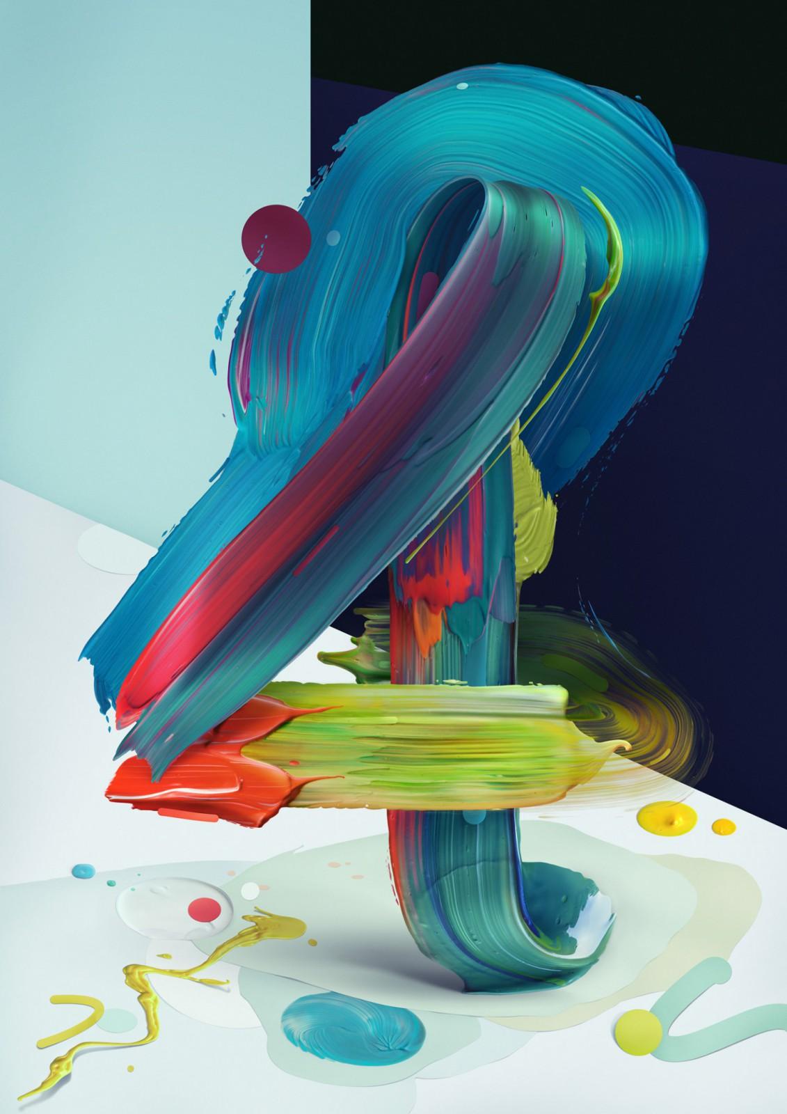 Раскрашенная типографика Павла Нолберта