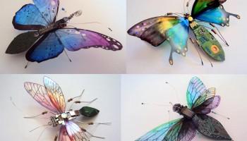 Крылатые насекомые из компьютерных плат