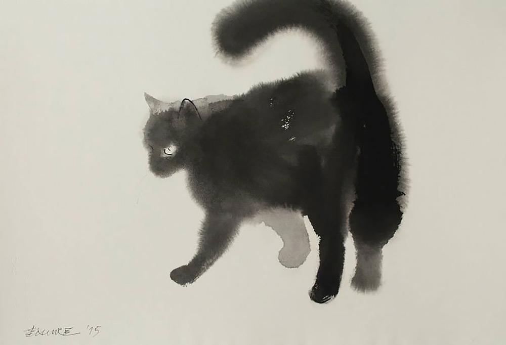 Акварельные кошки Эндре Пеновака
