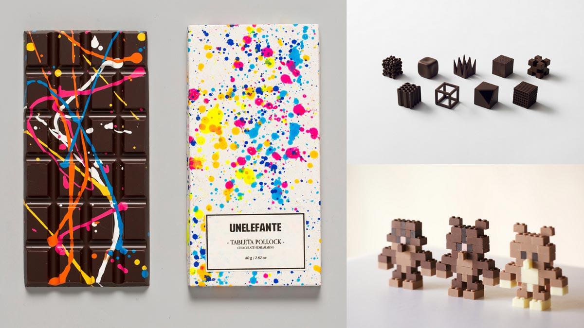 Три новых шоколада: Lego, японские текстуры и брызги красок