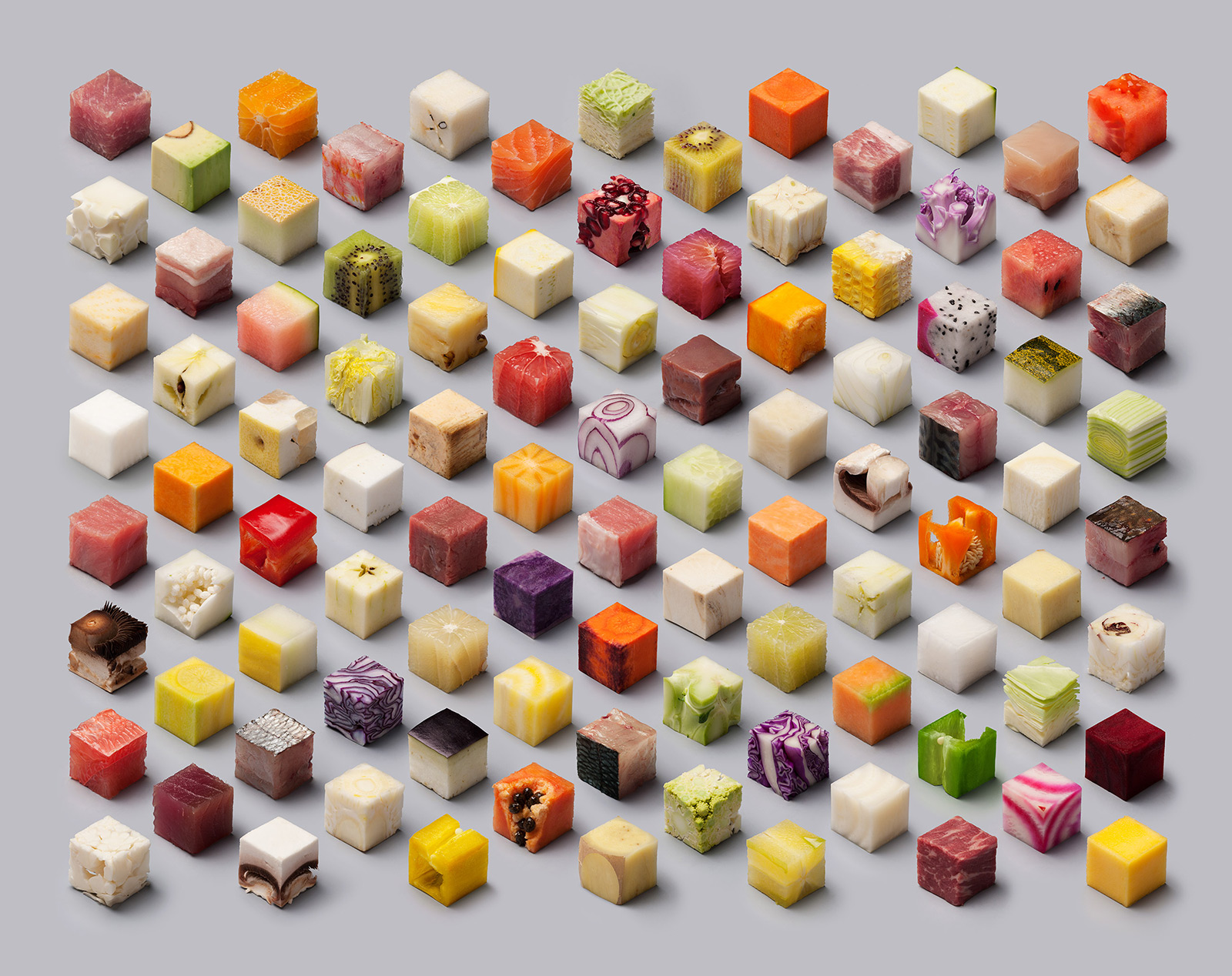 Еда в кубиках