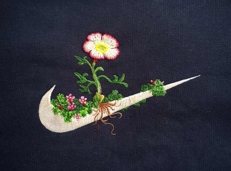 Спортивные логотипы с вышивкой