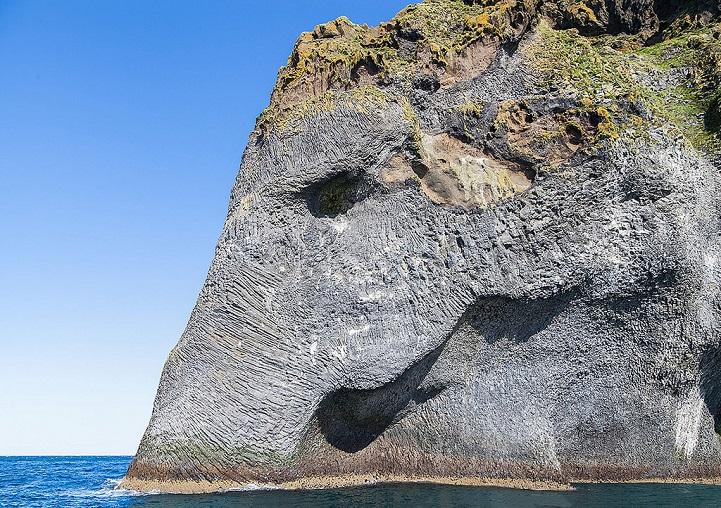 Гигантский слон выходит из океана